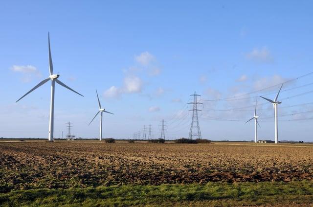 Bicker Fen wind farm. EMN-210207-101921001