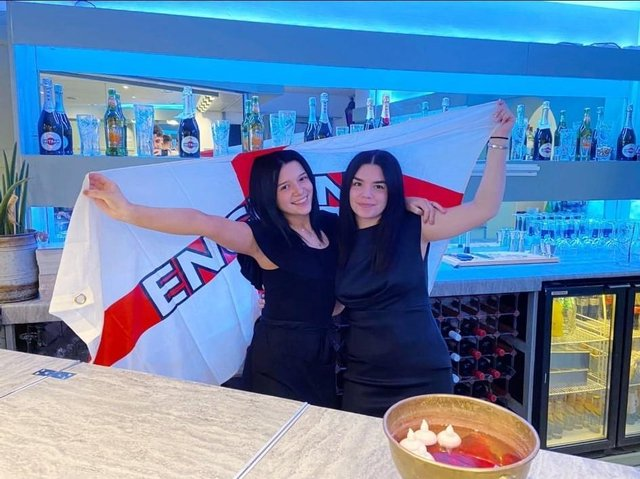 Celebrating at the Bombay Lounge