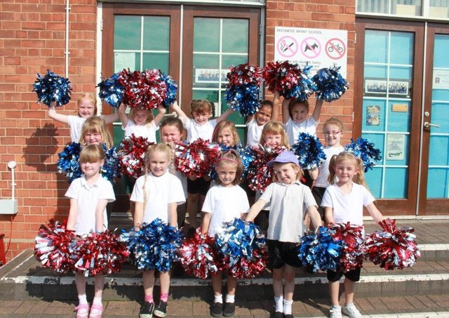 The Skegness Cheerios at Skegness Infant School's summer fair 10 years ago.
