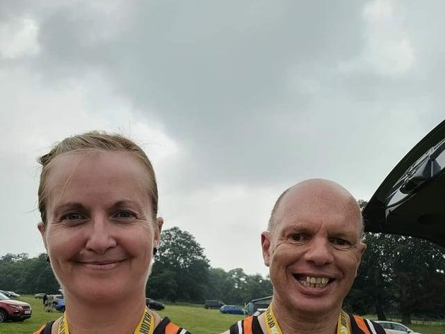 SADRC runners celebrate in Norfolk.