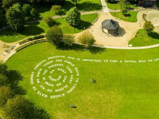 Of Earth and Sky installation at Gloucester. Photo credit: FluxxFilms