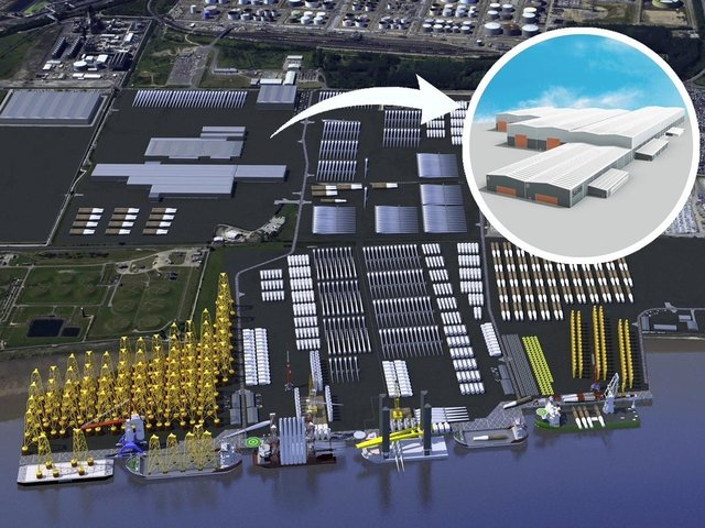 The proposed SeAH offshore wind facility at Able Marine Energy Park on the Humber.