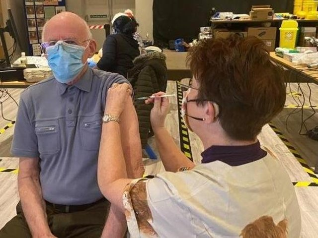 John Sampson, 80, of Skegness, became the first patient in Skegness to receive the Covid-19 vaccine from advanced nurse practitioner Jane Spence, of Orby, who had come out of retirement to help. Now is the final push to get the county vaccinated ahead of Freedom Day.