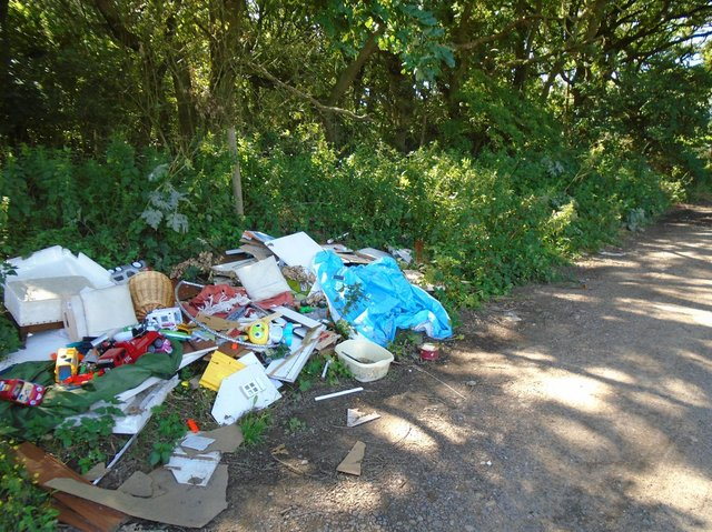 The fly tip at Wigsley that resulted in the prosecution.