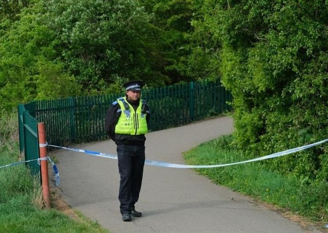 Police at the scene in New Waltham in April 2019. (Photo: Grimsby News & Pictures).