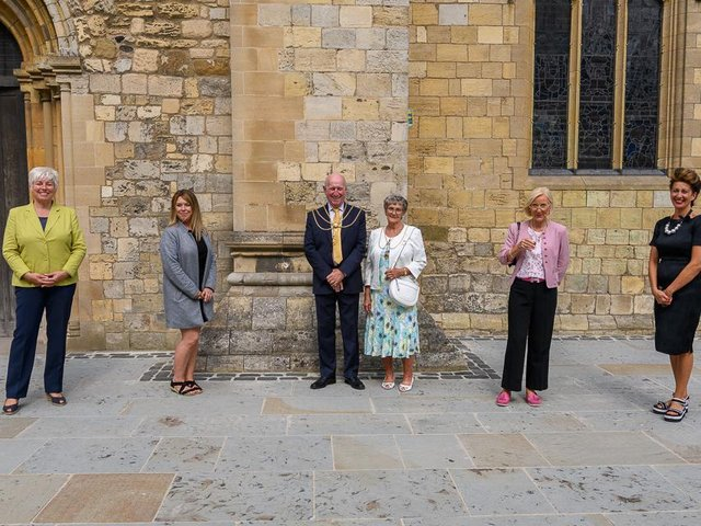 The reopening of the Grimsby Minster cafe.