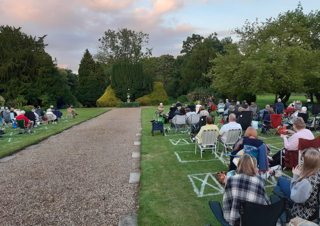 A full audience on the opening night of A Midsummer Night's Dream at Rauceby Hall. EMN-210715-104724001