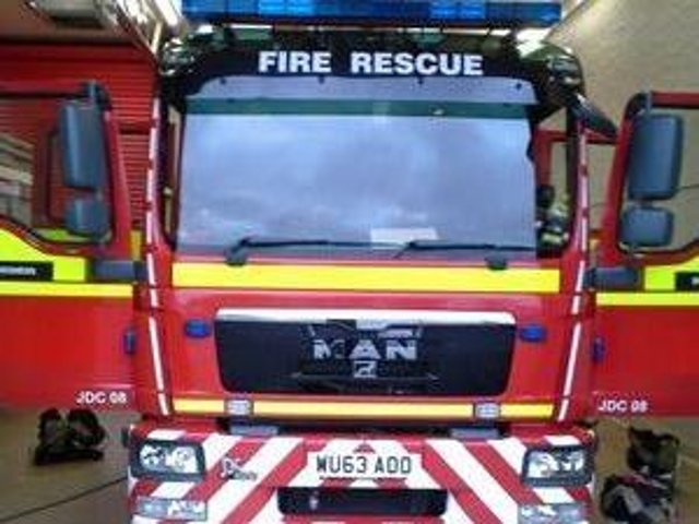 Firefighters attended after car crashed into house