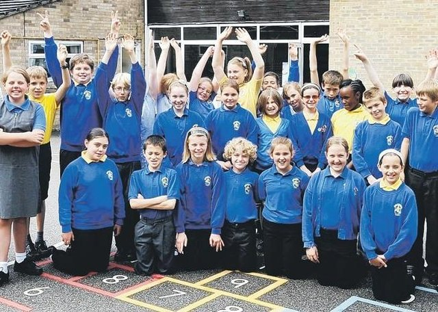 Some of the Year Six leavers at Our Lady of Good Counsel RC Primary School, Sleaford, 10 years ago.