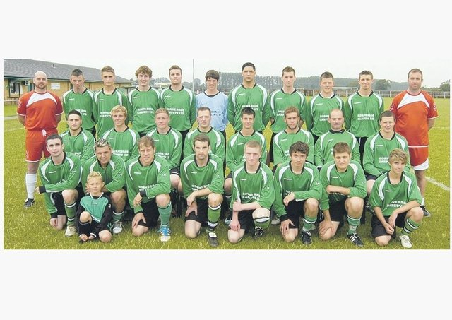 The Sleaford Town squad 2011/12.