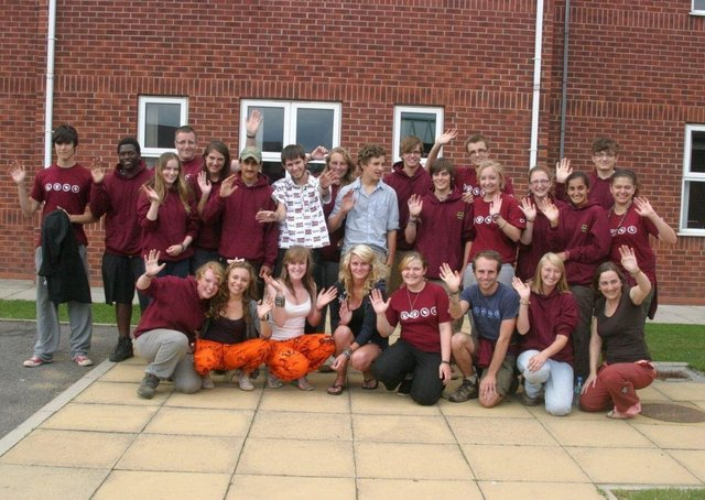 Skegness Grammar School students returning home 10 years ago.
