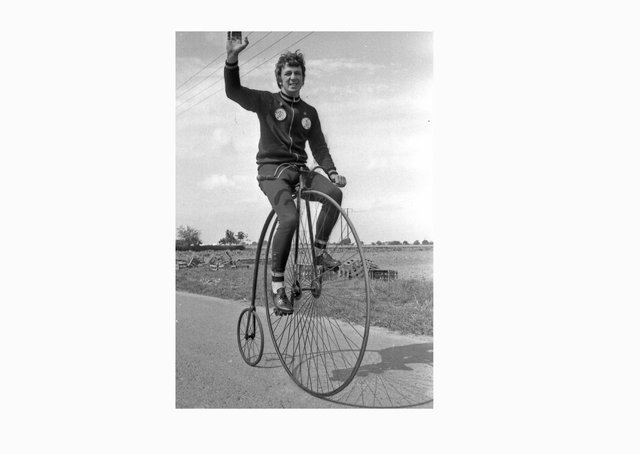 Boston racing cyclist John Almond.