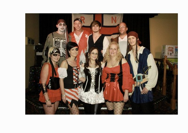 Pictured are (from left), rear, Ryan Handley, James Tiger, Bryn King, and Matt Laing; front, Kayliegh Ellis, Terri Ellis, Stacey Anne Huskisson, Sharon Hezzell, and Lewis Wass.