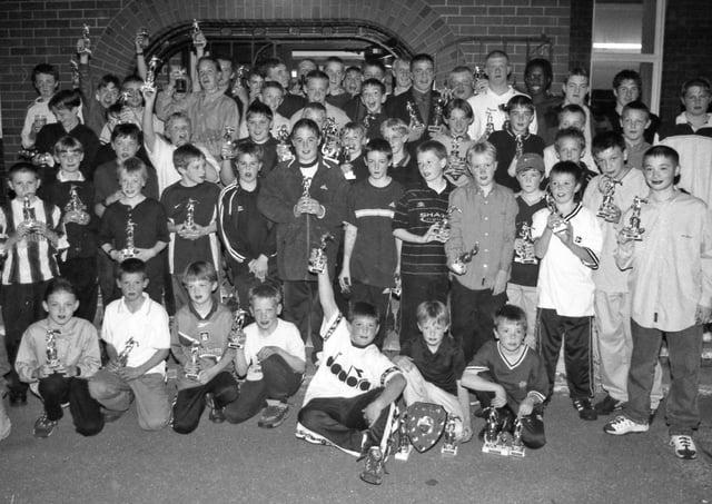 Junior footballers in Kirton in 2000.