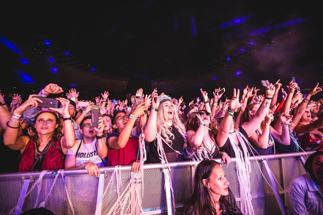 Fans cheer during a festival show. Picture: Gina Wetzler/Getty Images.