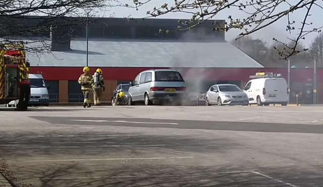 This footage of the fire was captured by Raif Keeble.