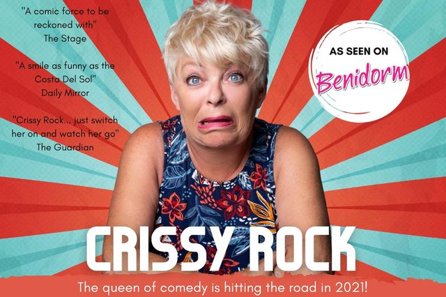 See Crissy Rock at Gainsborough and Scunthorpe venues later this year