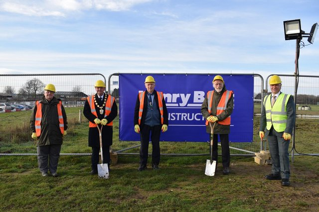 From left, councillors Paul Howitt-Cowan, Steve England, Jeff Summers, Owen Bierley and chief executive Ian Knowles.