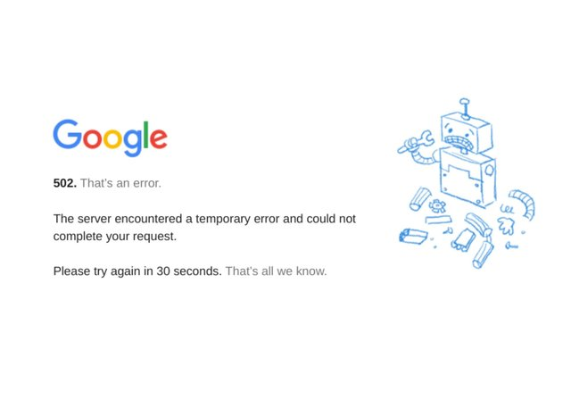 Google is among the sites down.