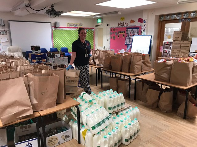 The school provide hampers for approximately 230 children per week