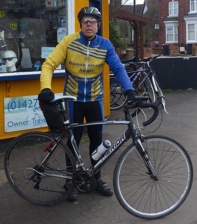 Ride organiser Trevor Halstead.