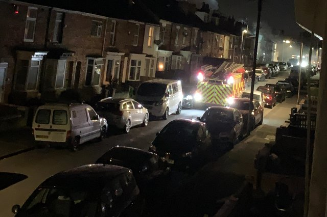 Firefighters were called to a house in Stanley Street, Gainsborough. Photo by Alison Hedison.