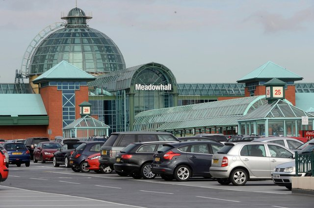 Meadowhall has 12,000 parking spaces. Picture: Dean Atkins.