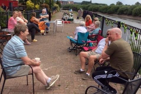 Gainsborough's Big Lunch was held on Riverside Walk
