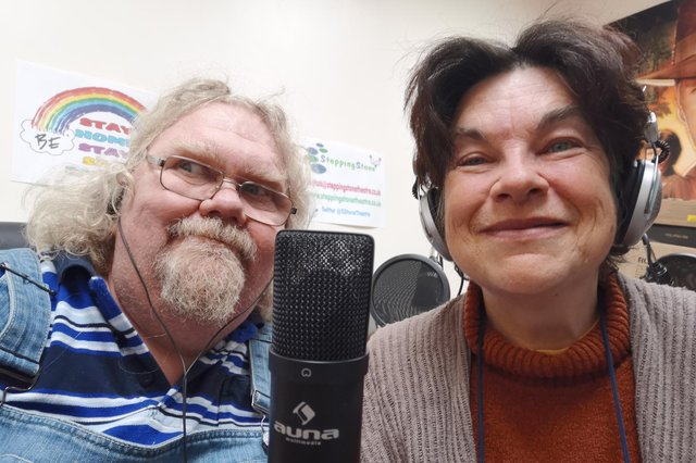 Bill and Kate Rodgers from Stepping Stone Theatre for Mental Health