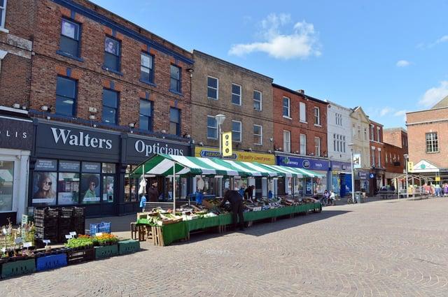 Gainsborough town centre streets.