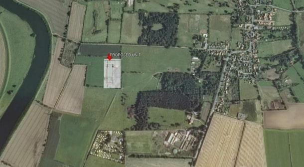 A birds eye view of where the egg farm will be located