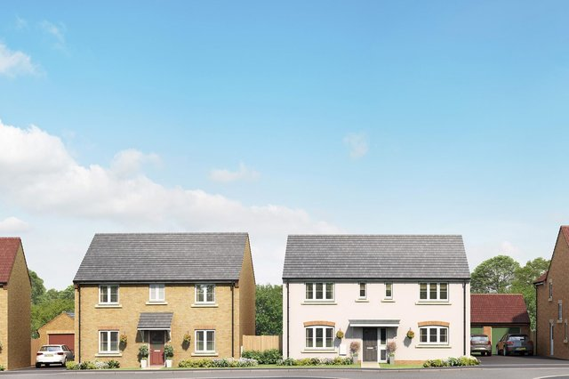An artists impression of the new homes in Tudor Reach, Kirton in Lindsey