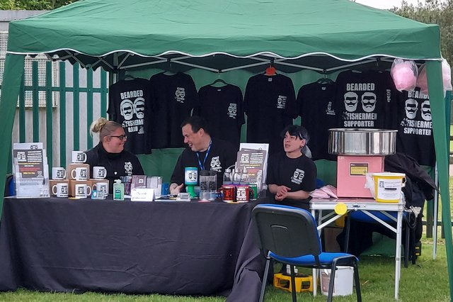 A Bearded Fisherman stall at a Gainsborough family fun day