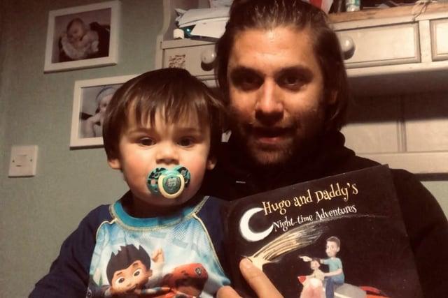 Misterton children's author Ric Hart and son Hugo.