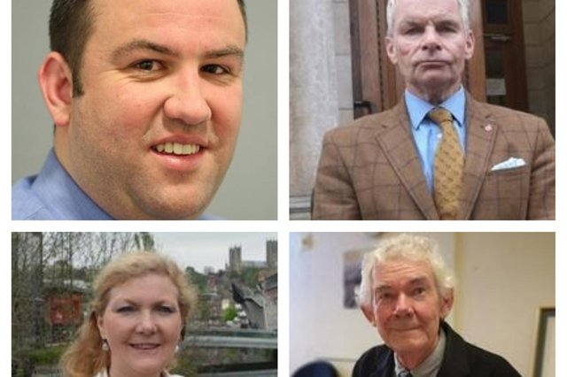 The four main political party leaders in Lincolnshire