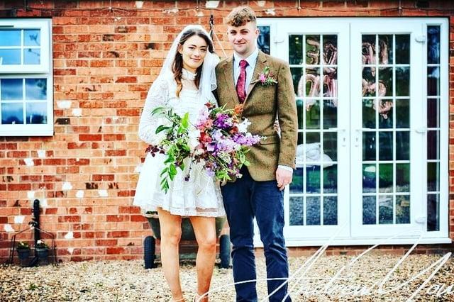 Louise and Elliott Godson on their wedding day