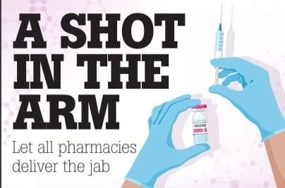 Pharmacies could be utilised to speed up the coronavirus vaccination rollout